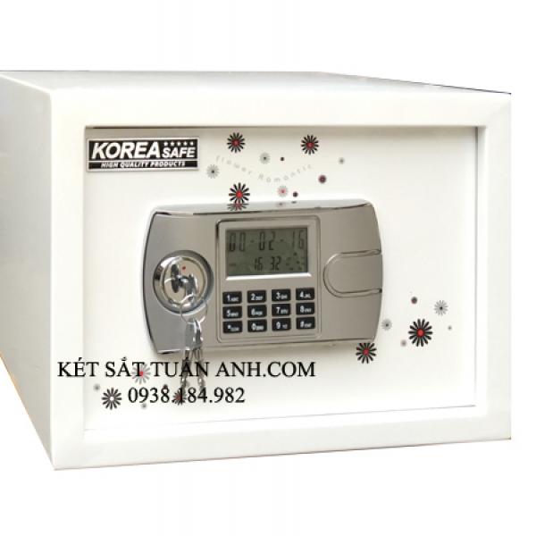 Két sắt mini KA10 khóa điện tử (hoa đồng tiền)